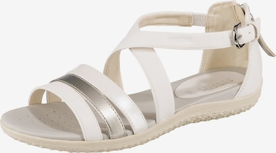 GEOX Vega Komfort-Sandalen in silber, Produktansicht