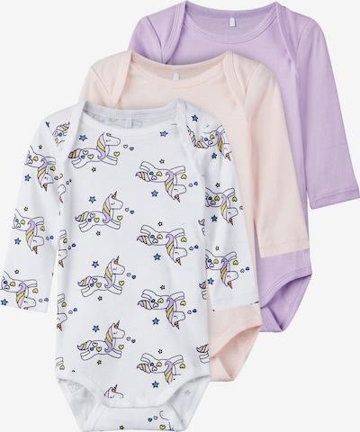 NAME IT Barboteuse / body en violet clair / mélange de couleurs / rose pastel / blanc, Vue avec produit