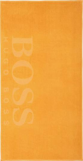 BOSS Home Strandtuch 'CARVED' in gelb, Produktansicht