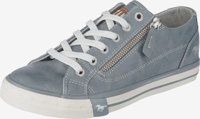 MUSTANG Sneaker mit Reißverschluss-Applikation in taubenblau, Produktansicht