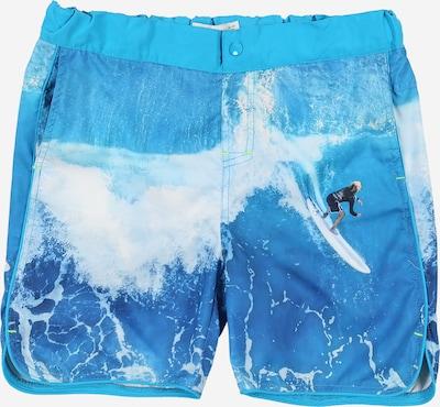 NAME IT Badeshorts in blau / weiß, Produktansicht