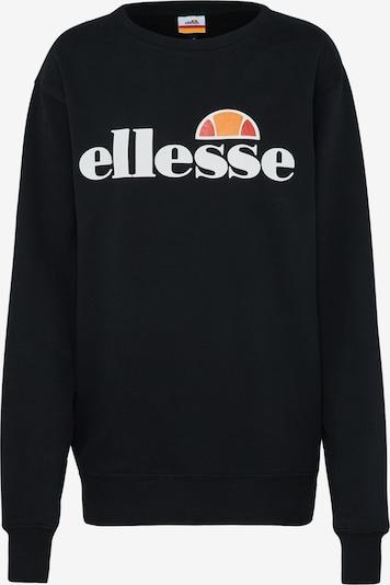 ELLESSE Sweatshirt 'Agata' in schwarz / weiß, Produktansicht