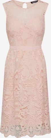 Boohoo Φόρεμα κοκτέιλ 'LACE SKATER DRESS' σε ροζ