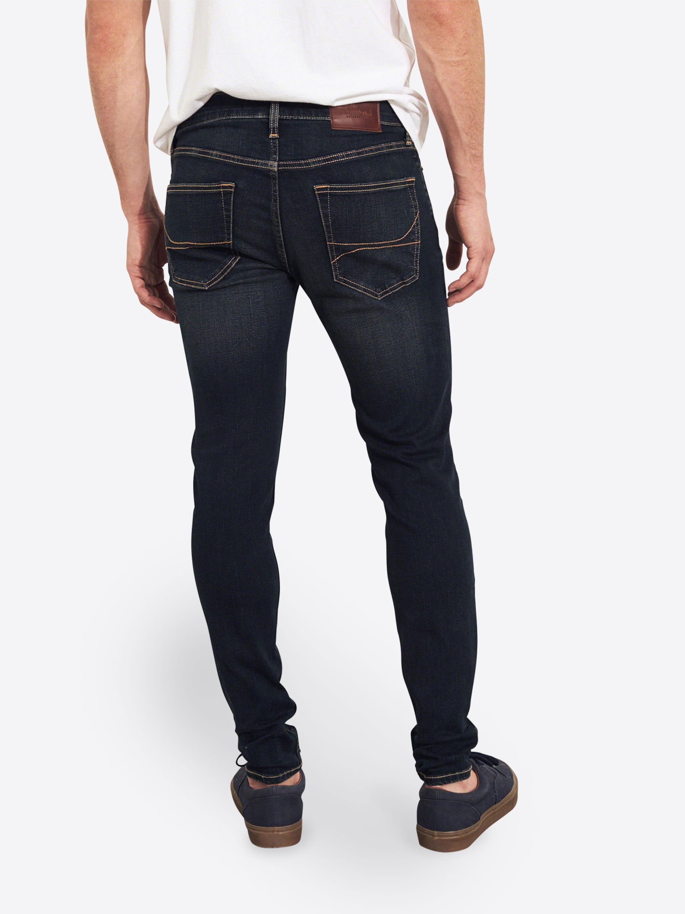 Jeans Hollister Blue 'tinted Dark Skinny In Denim Super 1cc' thrCsBoQdx