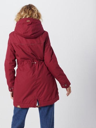 Ilga rudeninė-žieminė striukė 'CANNY' iš Ragwear , spalva - vyno raudona spalva: Vaizdas iš galinės pusės