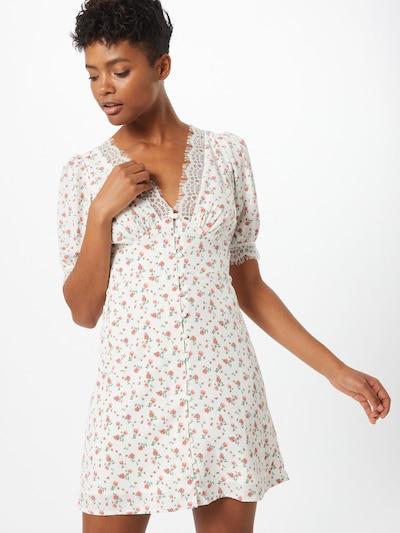 Fashion Union Robe 'Penny' en rose / blanc: Vue de face
