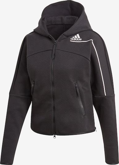 Sportinis džemperis 'Z.N.E.' iš ADIDAS PERFORMANCE , spalva - juoda / balta, Prekių apžvalga