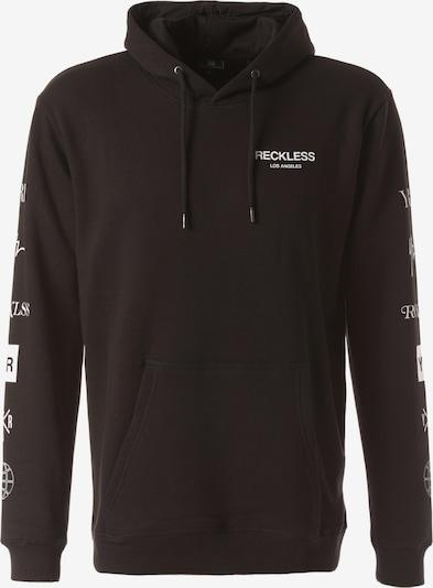 Young & Reckless Kapuzenpullover 'Crossfade' in schwarz / weiß, Produktansicht