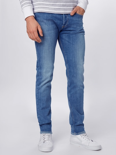 DIESEL Jeans 'SLEENKER-X' in blue denim, Modelansicht