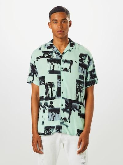 JACK & JONES Koszula 'JORTIDE RESORT' w kolorze miętowy / ciemnozielonym: Widok z przodu