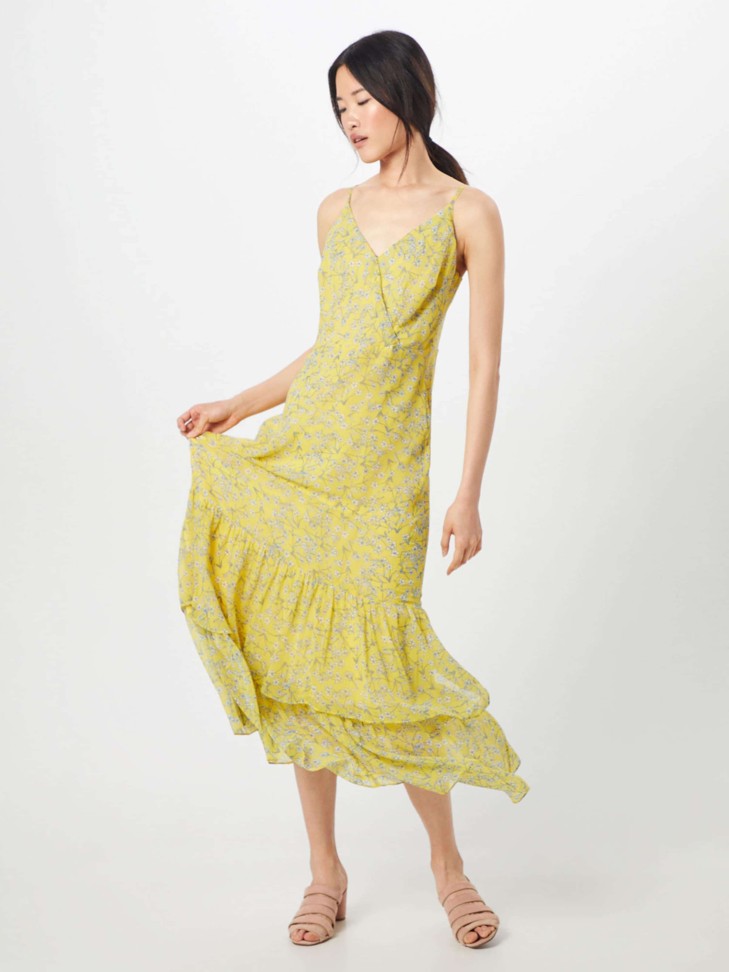 Republic 'tiered In GelbWeiß Sommerkleid Banana Maxi' Ygbf76y