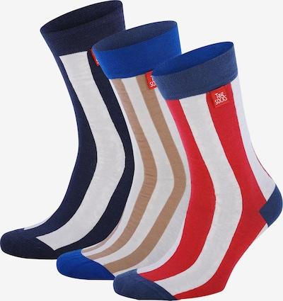 Tag SOCKS Sokken in de kleur Chamois / Blauw / Enziaan / Lichtrood / Wit: Vooraanzicht