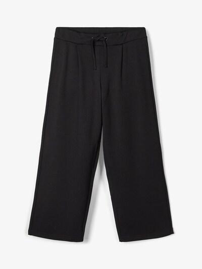 NAME IT Gummibund Hose mit weitem Bein in schwarz, Produktansicht