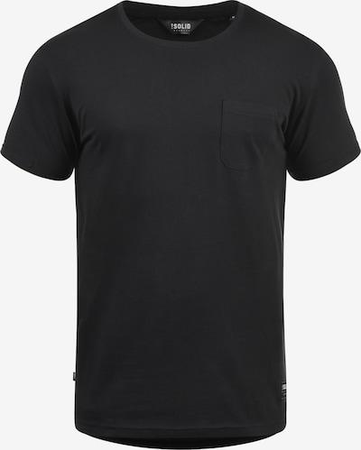 !Solid Rundhalsshirt 'Bob' in schwarz, Produktansicht