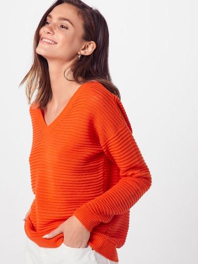 TOM TAILOR DENIM Pulover 'Ottoman' | oranžna barva: Frontalni pogled
