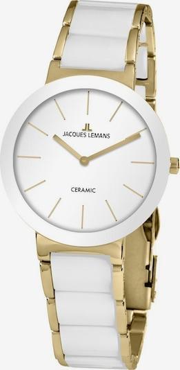 Jacques Lemans Uhr in gold / weiß, Produktansicht