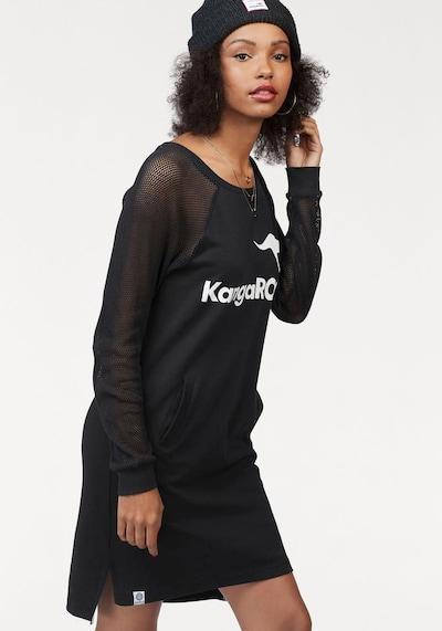 KangaROOS Sweatkleid in schwarz / weiß, Modelansicht