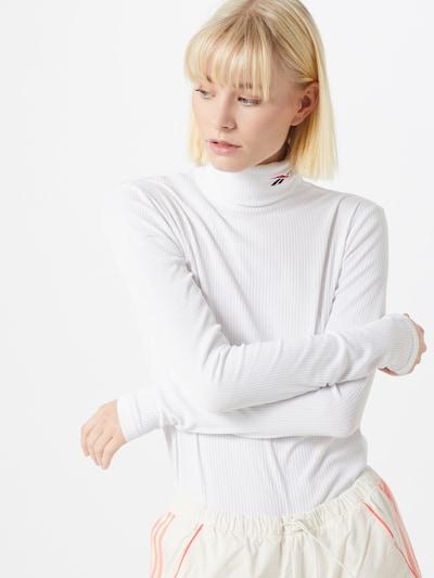 Reebok Classic T-shirt en bleu marine / rouge / blanc, Vue avec modèle