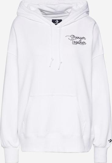 CONVERSE Sweatshirt 'CONVERSE WOMENS STRONGER TOGETHER OS HOODIE' in weiß, Produktansicht