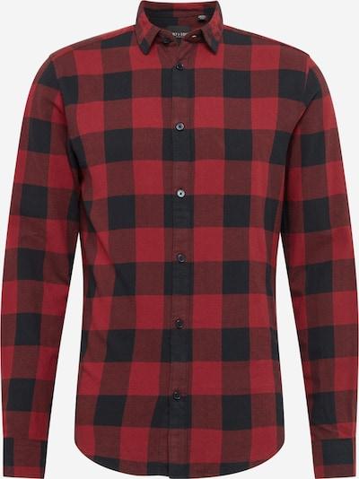 Only & Sons Hemd in rostrot / schwarz, Produktansicht