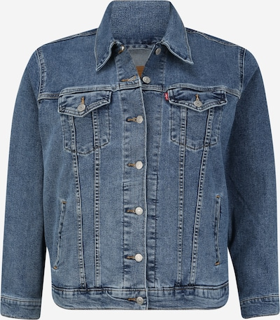 Levi's® Plus Jacke  'EX-BOYFRIEND TRUCKER' in blue denim, Produktansicht