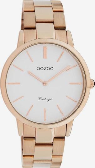 OOZOO Uhr in rosegold / weiß, Produktansicht