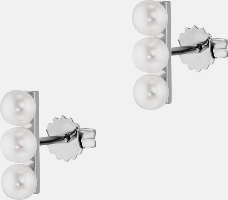 caï Paar Ohrstecker 'pure white, C1820E/90/46'