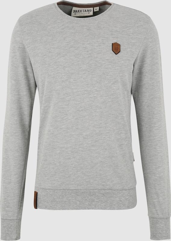 Naketano Sweatshirt 'Al K.Ohol' in hellgrau  Große Preissenkung