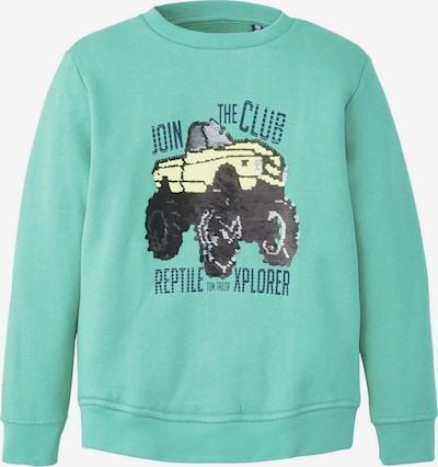 TOM TAILOR Strick & Sweatshirts Sweatshirt mit Print in hellblau, Produktansicht