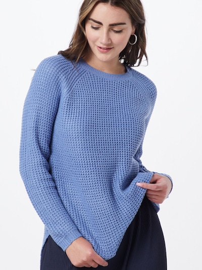 VERO MODA Pullover 'LEANNA' in blau: Frontalansicht