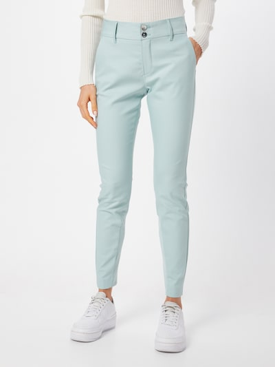 MOS MOSH Chino 'Blake Night Pant Sustainable' in de kleur Lichtblauw / Mintgroen, Modelweergave