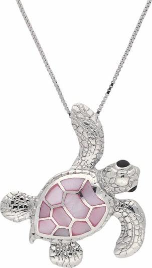 FIRETTI Kette mit Anhänger 'Schildkröte' in rosa / silber, Produktansicht