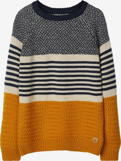 NAME IT Pullover in creme / orange / schwarz, Produktansicht