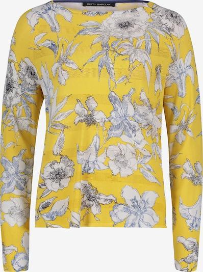Betty Barclay Feinstrickpullover mit Blumenprint in blau / gelb: Frontalansicht