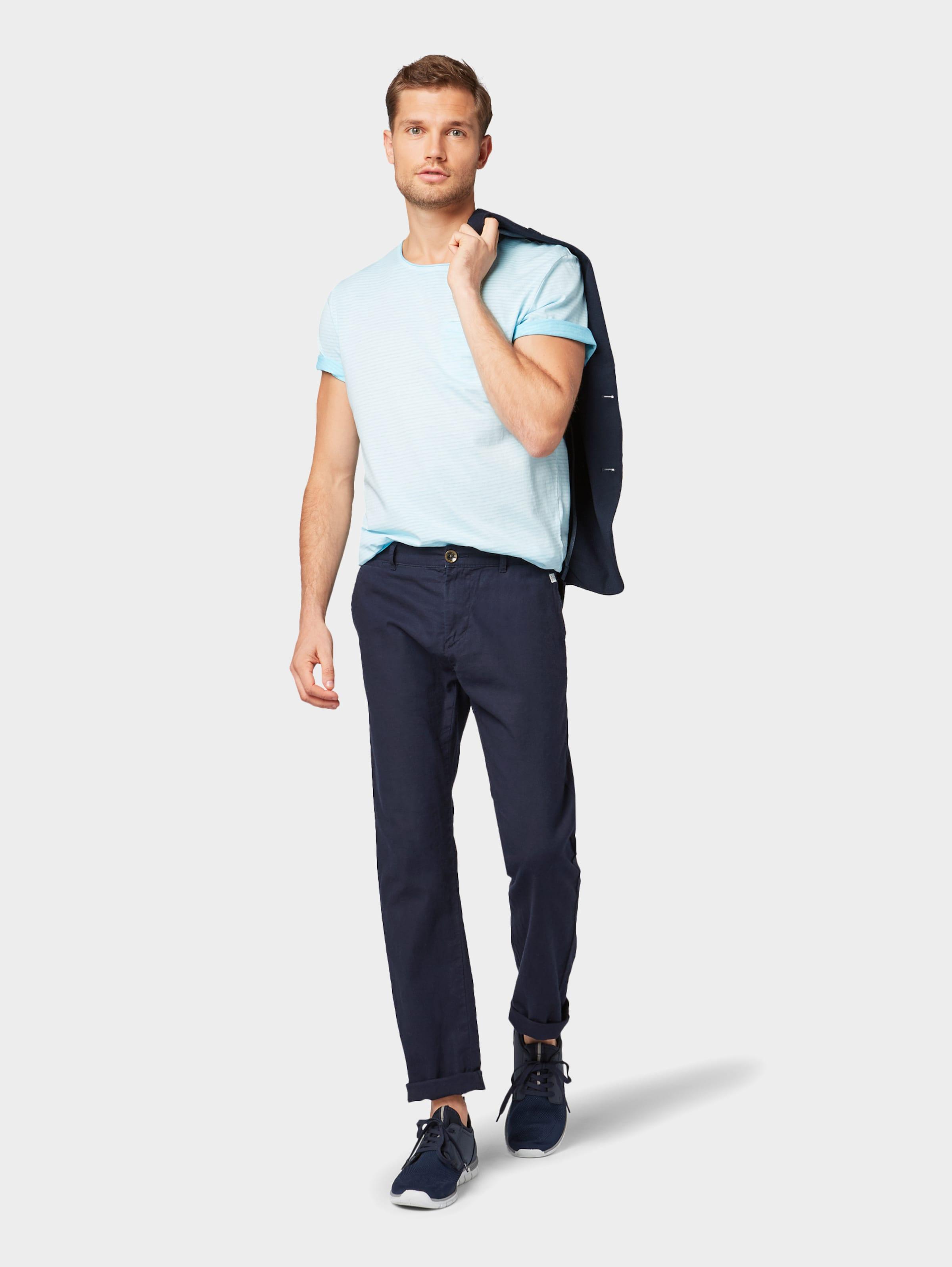 Tom Tailor Mit Eingrifftasche Hellblau In T shirt bfygY76