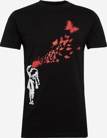 Mister Tee Paita 'Banksy' värissä musta