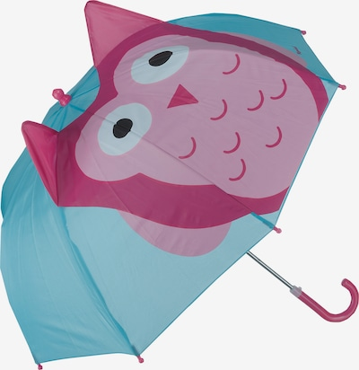 PLAYSHOES Umbrella 'Eule' in Turquoise / Cyclamen / Dusky pink, Item view