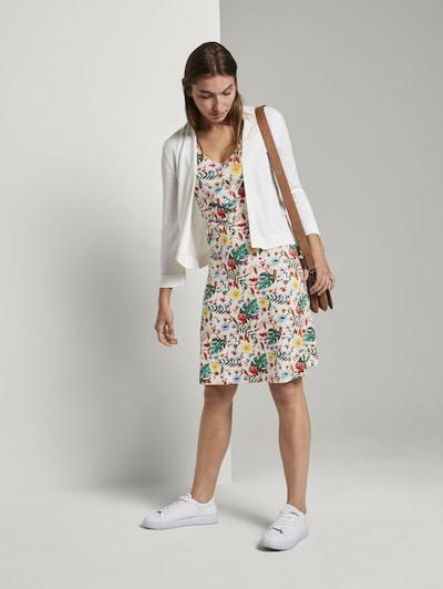 TOM TAILOR Kleid in mischfarben / weiß, Modelansicht
