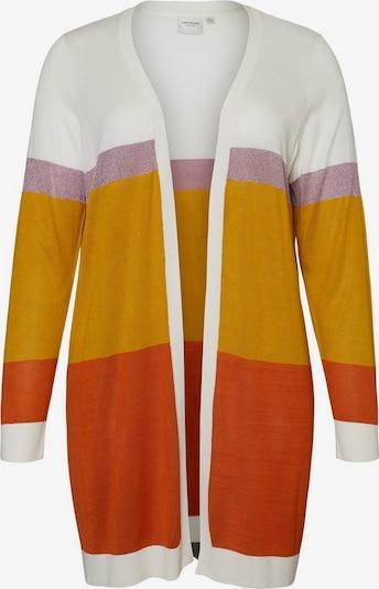 Junarose Gebreid vest in de kleur Honing / Pastellila / Roestrood / Wit, Productweergave