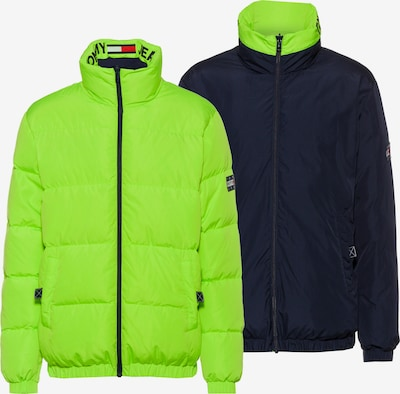 Tommy Jeans Kurtka zimowa w kolorze niebieska noc / neonowa zieleńm, Podgląd produktu