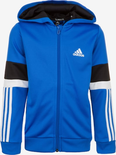 ADIDAS PERFORMANCE Jacke 'Equipment' in blau / schwarz / weiß, Produktansicht
