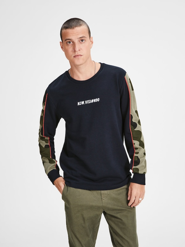 JACK & JONES Camo Sweatshirt