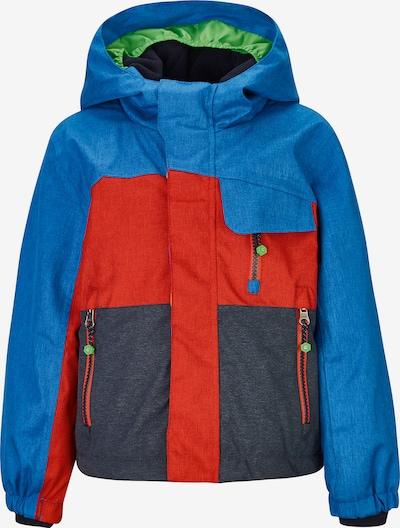 KILLTEC Skijacke 'Deny' in blau / dunkelgrau / orangerot, Produktansicht