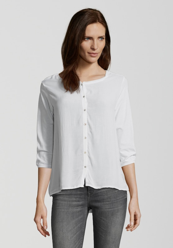 BETTER RICH Bluse 'BUTTON BLOUSE' in weiß: Frontalansicht