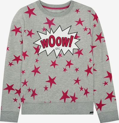 STACCATO Sweatshirt in hellgrau / pink / weiß, Produktansicht