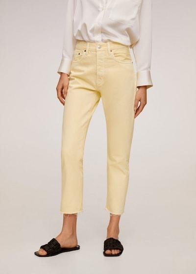 MANGO Jeans in pastellgelb, Modelansicht