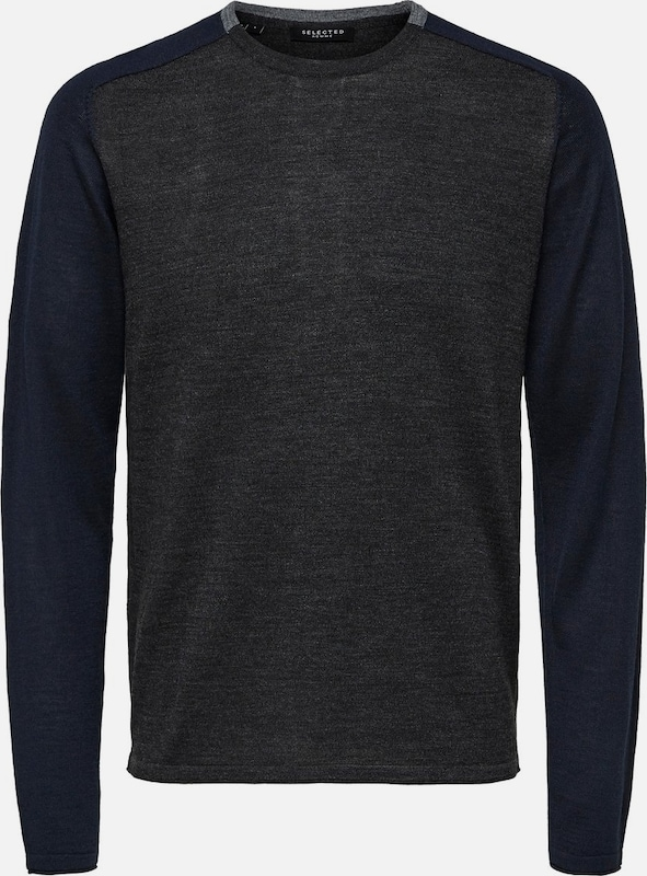 SELECTED HOMME Pullover in navy   anthrazit  Großer Rabatt
