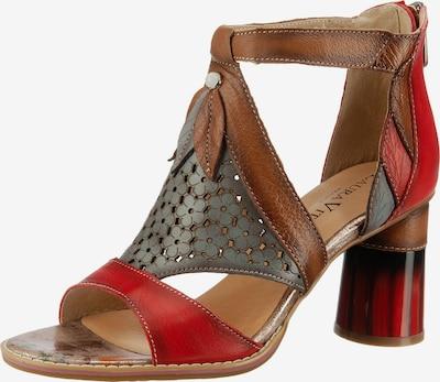 Laura Vita Sandalette 'Gucstoo' in braun / stone / rot, Produktansicht