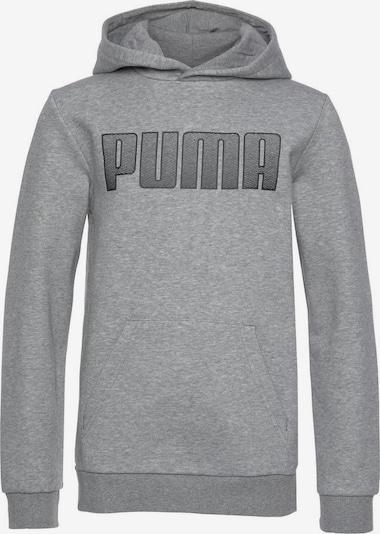 PUMA Kapuzenpullover in graumeliert / schwarz, Produktansicht