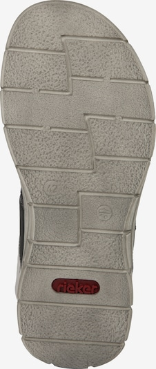 RIEKER Sandalen in de kleur Donkergrijs / Zwart: Onderaanzicht